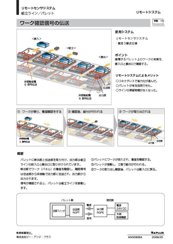 移動 /自動組み付け機のワーク確認