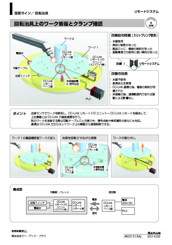 回転 /回転治具上のワーク着座と  クランプ確認(CC-Link)