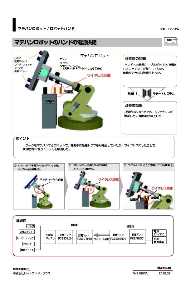移動/マテハンロボットの電源供給
