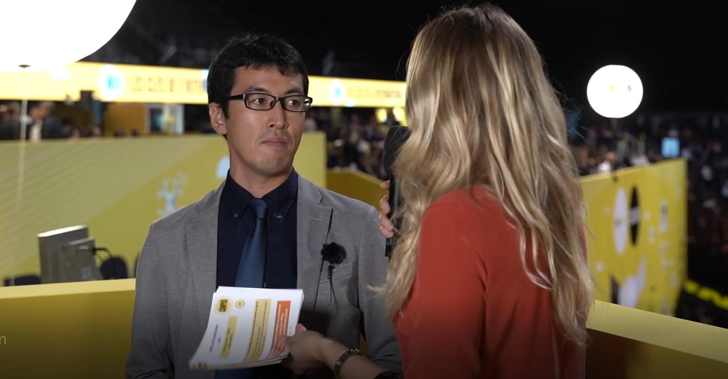 フランスでの商談会にて弊社営業がインタビューを受けました!