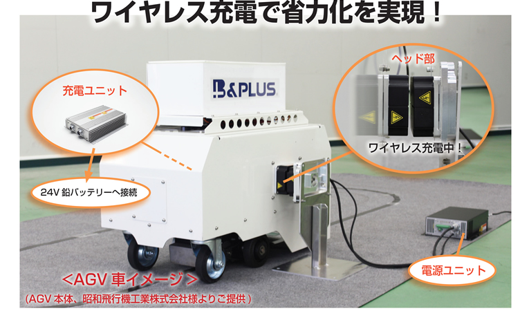 コネクタは使わない!非接触充電で作業効率UP!