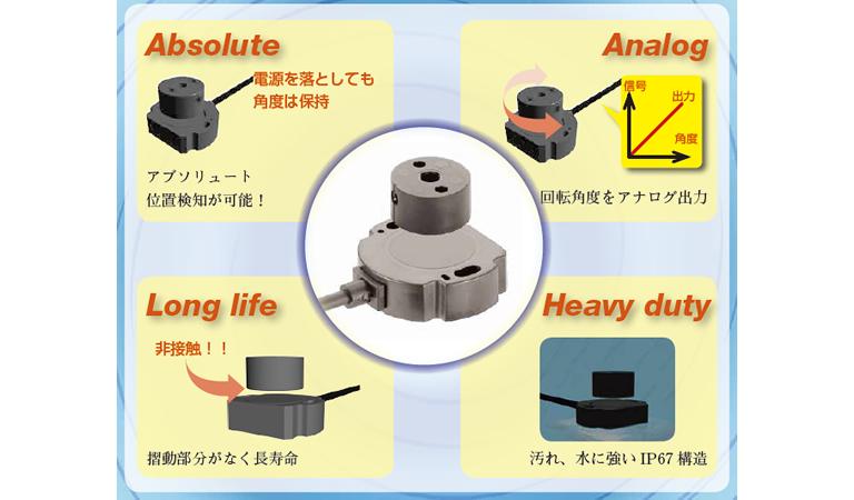 回転軸がなくても角度が測れる!非接触ロータリーセンサRFC4800シリーズ