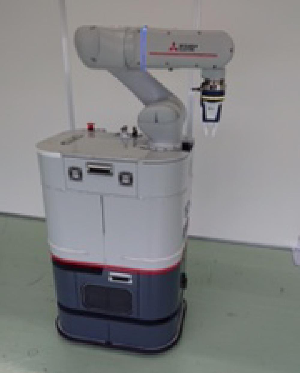 生産現場のロボットのバッテリーへワイヤレス充電